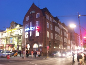 "The Davidwache on Hamburgs Reeperbahn in St. Pauli where the big freedom ""Große Freiheit"" isn't far."